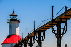 St. Joseph Michigan Lighthouse royalty free stock photos