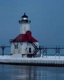 St. Joseph mola Północna latarnia morska Zdjęcie Stock