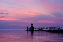 St Joseph North Pier Lights, construit en 1906-1907 Photo stock