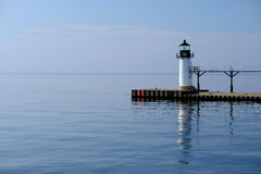 St. Joseph North Pier Outer Light, built in 1906 Stock Photo