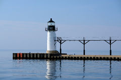 St. Joseph North Pier Outer Light, built in 1906 Royalty Free Stock Image