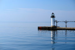 St. Joseph North Pier Outer Light, built in 1906 Royalty Free Stock Photo