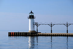 St. Joseph North Pier Outer Light, built in 1906 Stock Photography