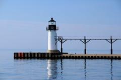 St Joseph North Pier Outer Light, costruito nel 1906 Fotografia Stock