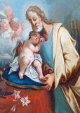 St. Joseph paint in the chapel in Saint Anton palace by Anton Schmidt from years 1750 - 1752. Royalty Free Stock Images