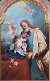 St. Joseph paint in the chapel in Saint Anton palace by Anton Schmidt from years 1750 - 1752. Stock Image