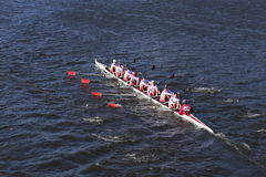 St. Joseph Prep Crew races in the Head of Charles Regatta Men`s Youth Eights Stock Images