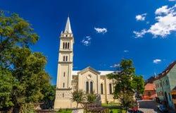 St Joseph Rzymskokatolicka katedra w Sighisoara obraz royalty free