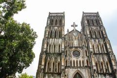 St. Joseph's Cathedral. In Hanoi stock image