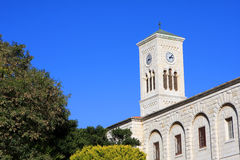 St. Joseph's Church, Nazareth. Tower of the St. Joseph's Church in the Old City of Nazareth, Israel Stock Photos