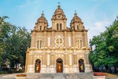 St. Joseph`s Church, Wangfujing Cathedral at Beijing, China stock photos