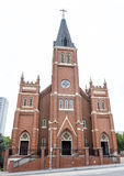 St. Joseph`s Old Cathedral near the Oklahoma City National Memorial & Museum. St. Joseph Old Cathedral is located in downtown Oklahoma City, Oklahoma across from stock images