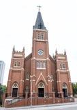 St Joseph ` s Oude Kathedraal dichtbij het de Stads Nationale Gedenkteken & het Museum van Oklahoma Stock Afbeeldingen