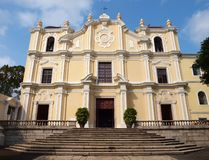 St. Joseph's Seminary and Church in Macao Stock Photo