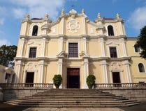 St. Joseph's Seminary and Church in Macao. The very beautiful St. Joseph's Seminary and Church in Macao Stock Photo