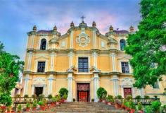St. Joseph Seminary and Church in Macau, China. St. Joseph`s Seminary and Church in Macau - China Stock Photo