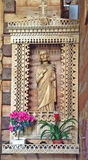 St Joseph Statue inside Chapel of the Sacred Heart of Jesus in Jaszczurówka, Poland Royalty Free Stock Photography
