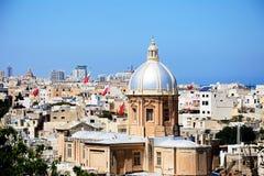 St Josephs church, Kalkara. View of St Josephs Church and town buildings at Kalkara, Vittoriosa Birgu, Malta, Europe Royalty Free Stock Image