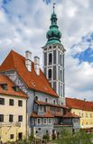 St Jost教会在捷克克鲁姆洛夫 免版税库存图片