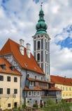 St Jost Church i Cesky Krumlov royaltyfria bilder