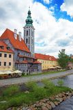 St Jost Church in old city of Cesky Krumlov royalty free stock image