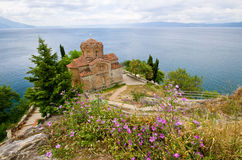 St Jovan Caneo church in Ohrid, Macedonia Stock Images