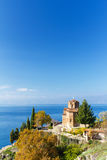 St. Jovan Church on Lake Ohrid, Macedonia Stock Images