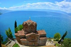 St Jovan Kaneo kerk, Ohrid, Macedonië Stock Foto