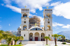St Jovan Vladimir church in Bar, Montenegro. Royalty Free Stock Photography