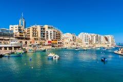 St Juliański Malta Zdjęcia Stock