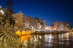 St Julian Baai - Malta Stock Foto's
