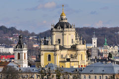 St.Jura cathedral - most famous histiric building in Lvov Royalty Free Stock Photos