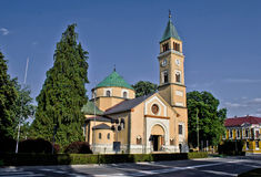 St. Juraj church in Durdevac, Podravina, Croatia. St. Juraj church in Town of Durdevac, Podravina, Croatia Stock Image