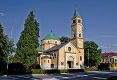 St. Juraj kerk in Durdevac, Podravina, Kroatië Stock Afbeelding