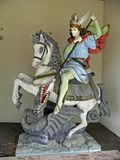 St.Juraj monument in Hrasno. St.Juraj monument in Sanctuary of the Queen of peace,Hrasno,Europe stock image