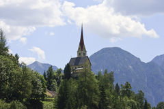 St Justina Church near Assling in Austria Royalty Free Stock Photos