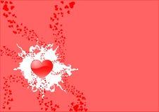 St. kaart 3 van de valentijnskaart Stock Foto's