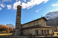 St. Karl Church in St.Moritz-Bad in Switzerland Royalty Free Stock Photos