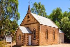 St kastanjebruna John Lutheran Church - arkivbild