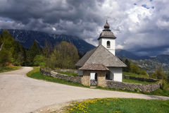 St. Katarina church near Bled, Slovenia stock photos