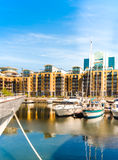 St. Katarine docks in London Stock Image