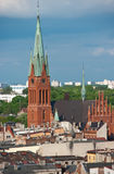 St Katarzyna Church, Torun. Saint Katarzyna (Kathrine) Church of Torun, Poland. Aerial view Stock Images
