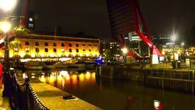 St Katharine dock in London, UK stock footage