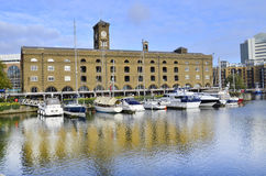 St. Katharine dock in London Royalty Free Stock Image