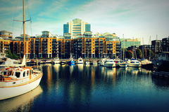 St Katharine dock in London, United Kingdom Stock Photography