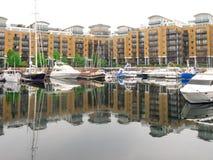 St Katharine Docks Royalty-vrije Stock Afbeeldingen