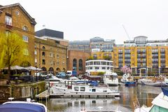 St Katharine Docks in London Royalty Free Stock Image