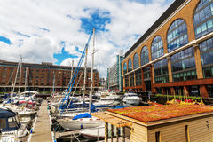St. Katharine Docks in London, UK Royalty Free Stock Image