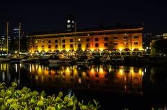 St Katharine Docks, Londres Photographie stock libre de droits