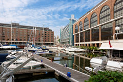 St Katharine's Dock. London, England Royalty Free Stock Photo